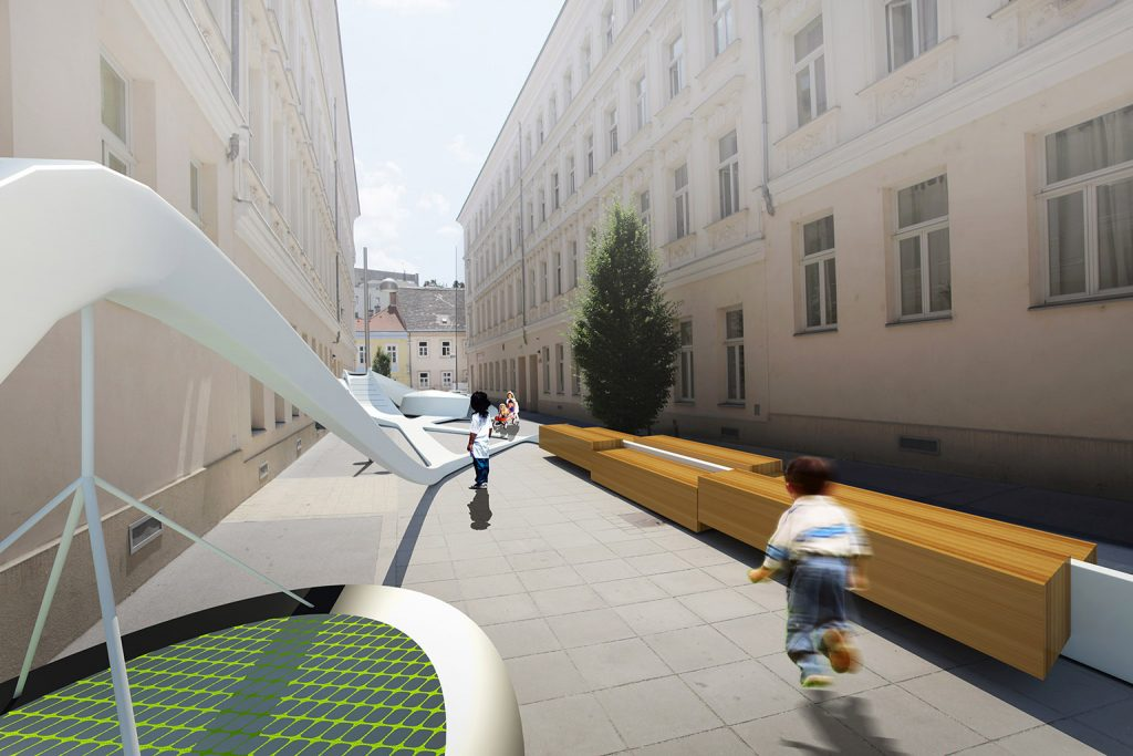 Street Animation - Vienna - e Bléck architects - Philippe Grotenrath