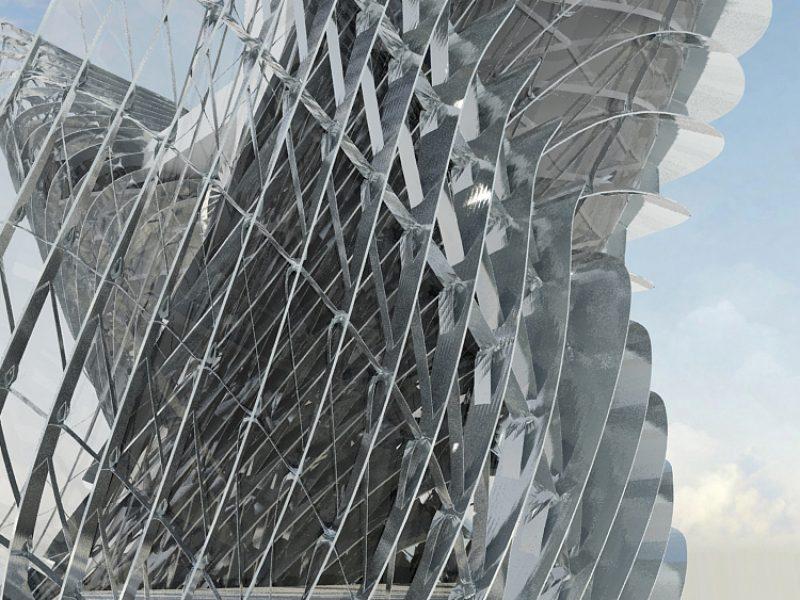 Metal fins facade - e Bléck architects - Philippe Grotenrath